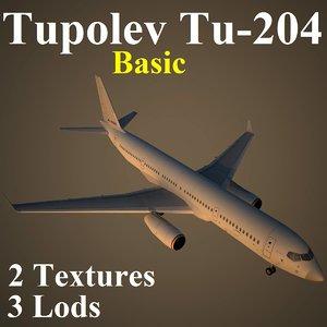 3d model tupolev basic