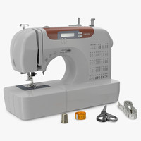 sewing set modeled 3d model
