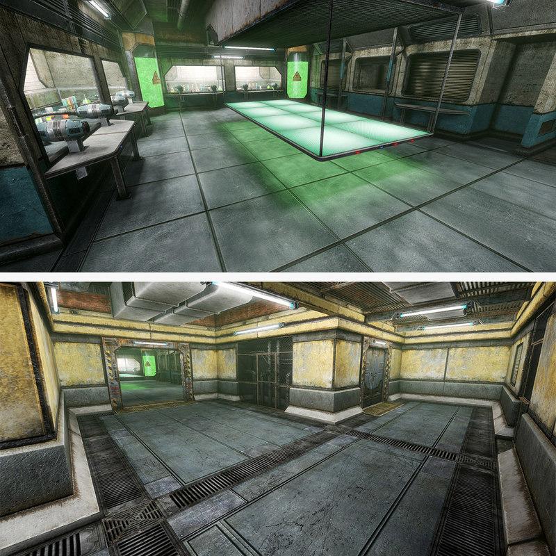 3d sci-fi interior chimestry