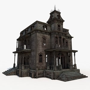 3d old abandoned house interior model