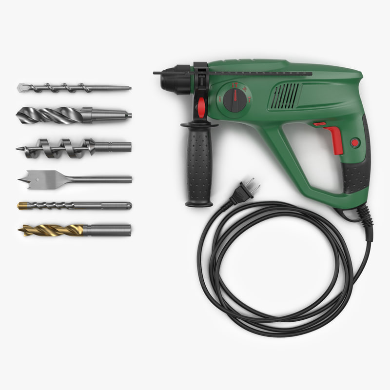 3d pneumatic hammer drill bits model