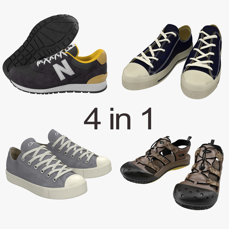 3d model sneakers 2 modeled