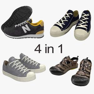 3d model sneakers 2 modeled