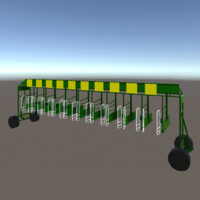horse racing starting gate 3d model
