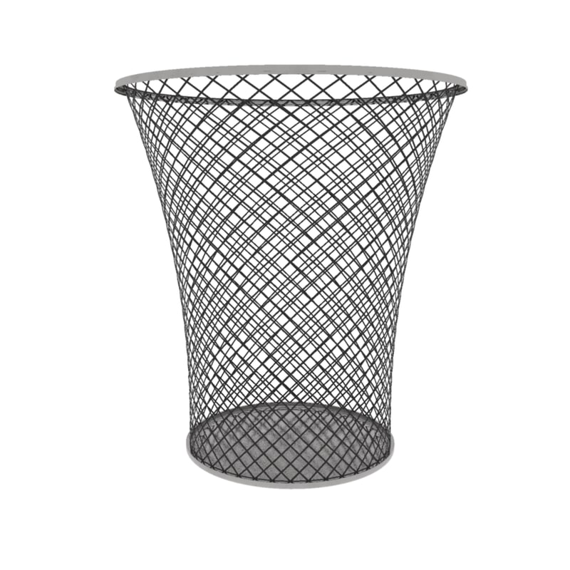 3d container basket wastebasket waste