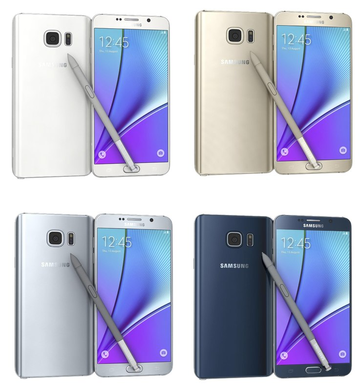 3d model of samsung galaxy note 5