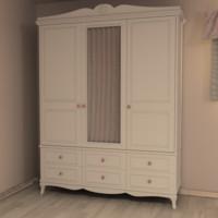 3d girls room closet
