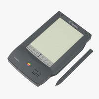 3d model apple newton message pad