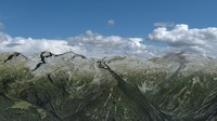 austrian mountain landscape austria 3d model