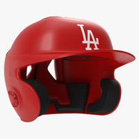 batting helmet la modeled 3d model
