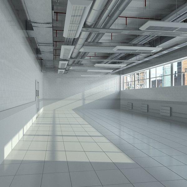 industrial interior scene 3d max