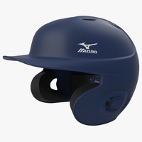 3d batting helmet 3 modeled model