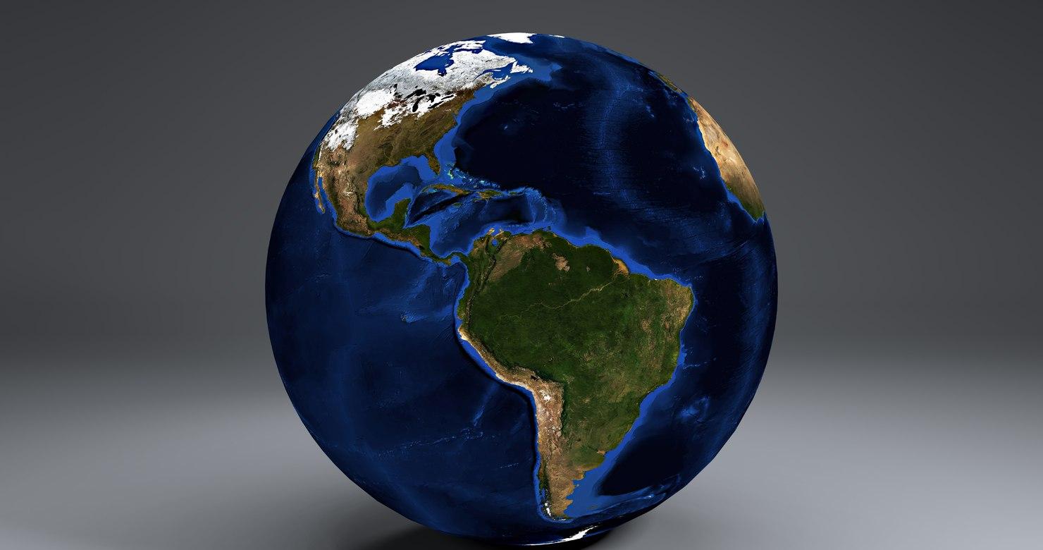 10k earth globe 3d obj