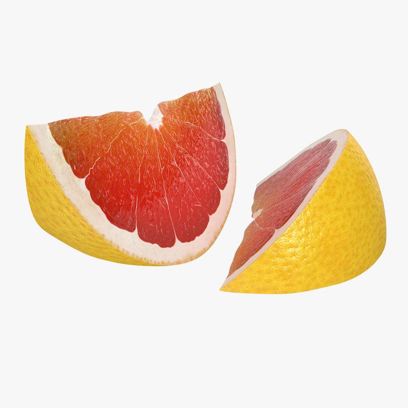 grapefruit slice 3d model