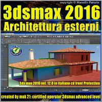 012 3ds max 2016 Architettura Esterni 12.0 Italiano cd front