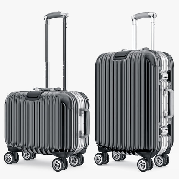 suitcase travel kingtrip normal 3d model