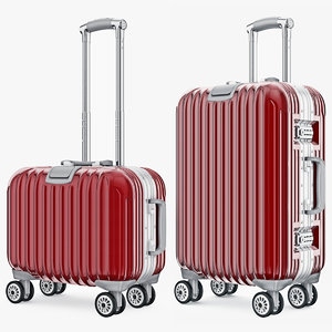 bag suitcase travel 3d model