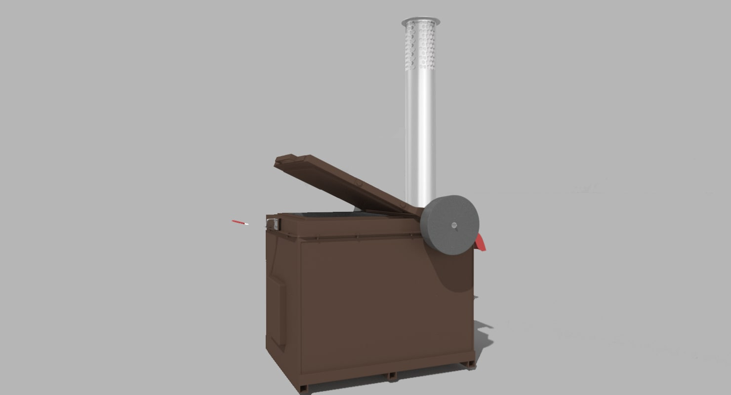 waste incineration 3d model
