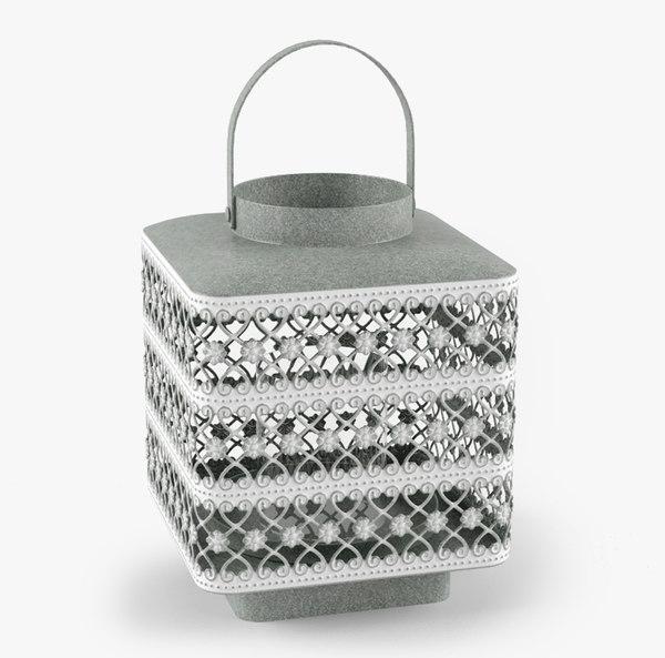 s max square metal lantern