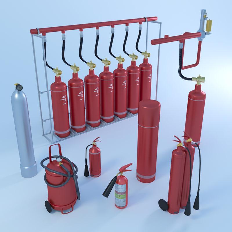 extinguisher pack 3d max