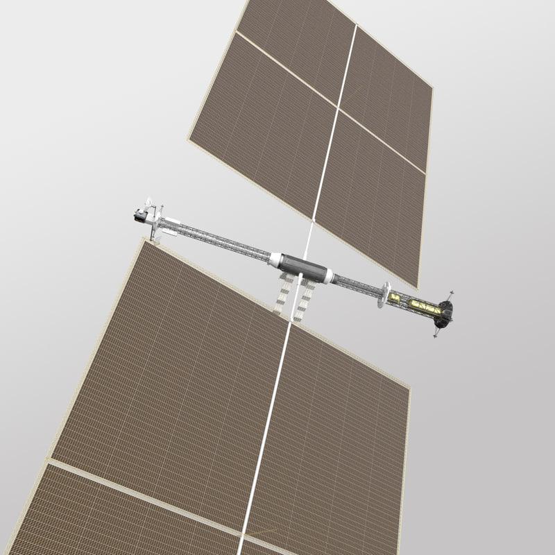 solar electric ion drive 3d model