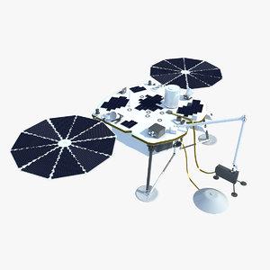 3d model insight lander mars