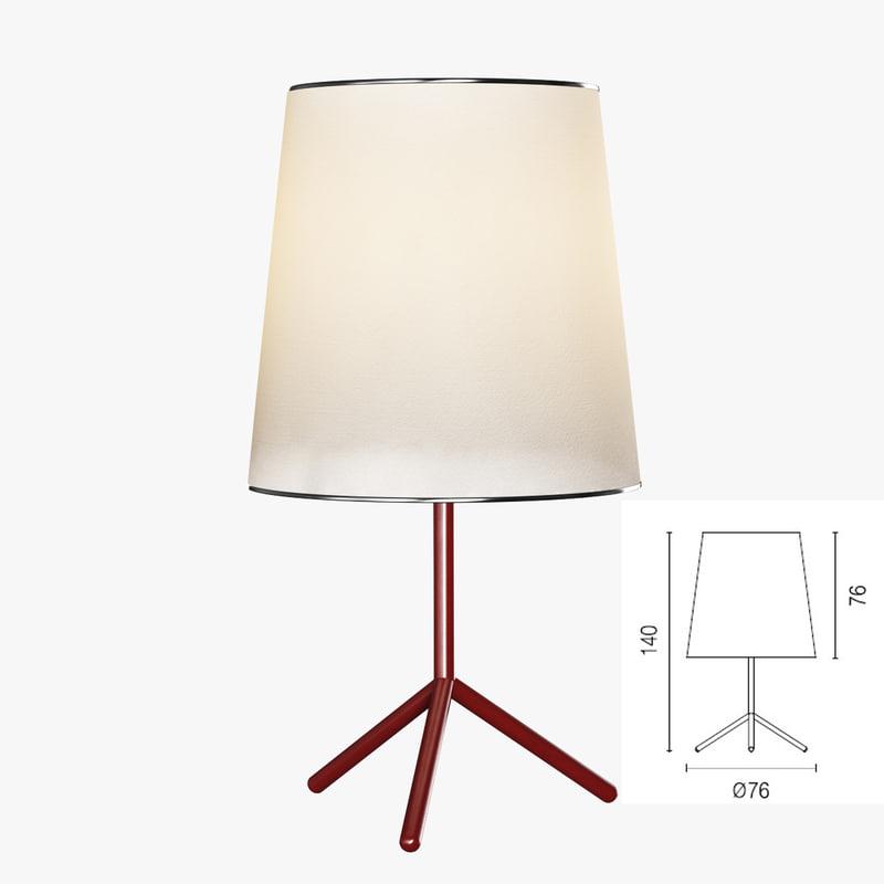 calligaris big wave floor lamp 3d 3ds