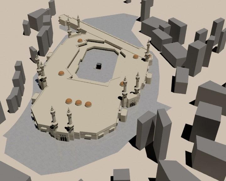 3d masjidil haram masjid