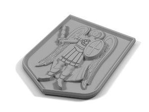 relief archangel michael 3d model