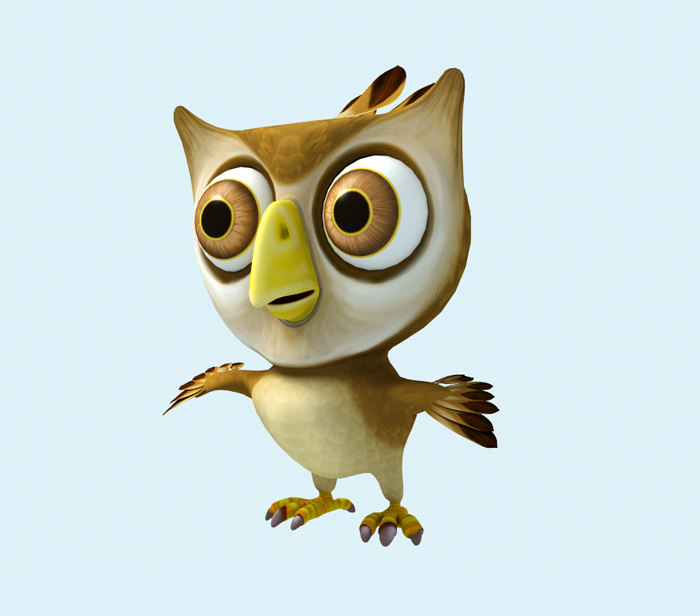 cartoon owl 3ds