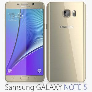 3d 3ds galaxy note samsung 5