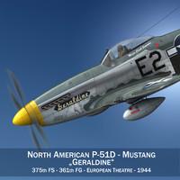 3d north american - geraldine model