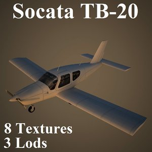socata low-poly light max