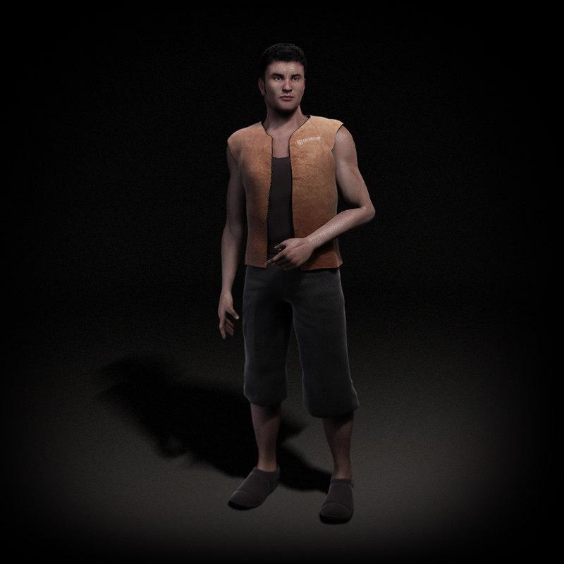 human rigged character max