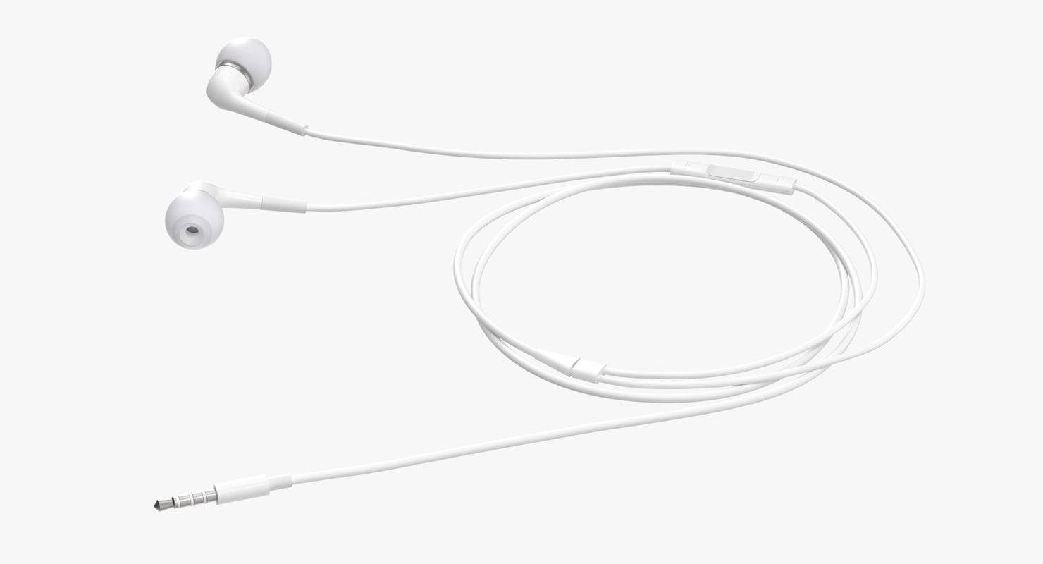 in-ear headphones 3d model