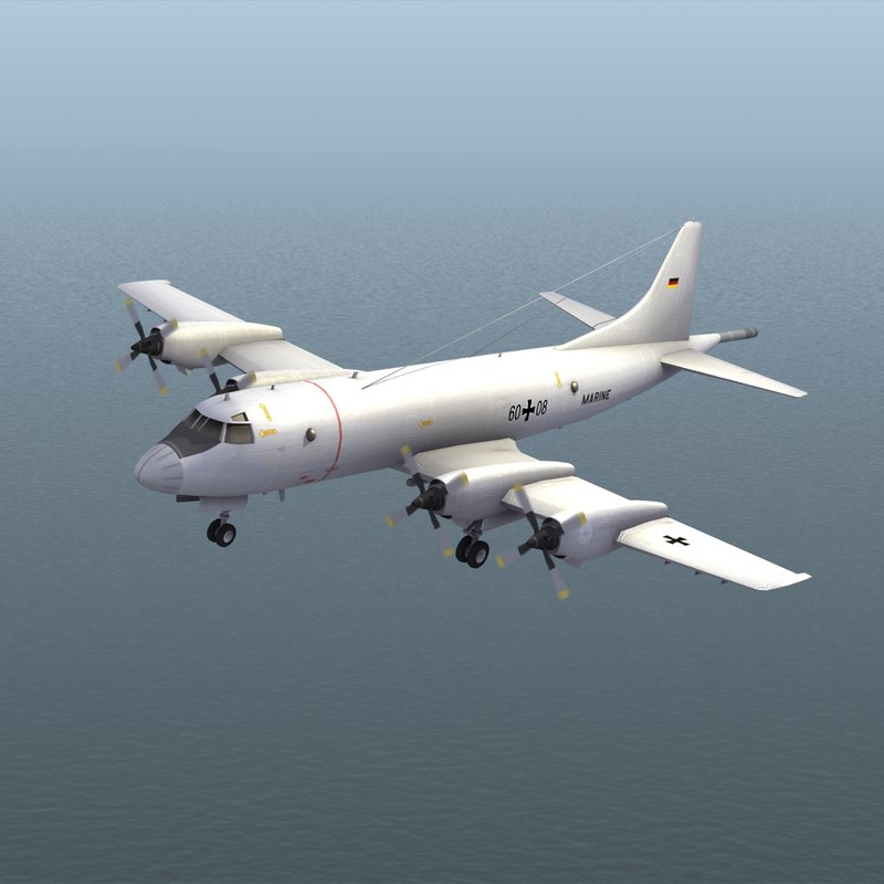p3 orion aircraft deutsche 3d model