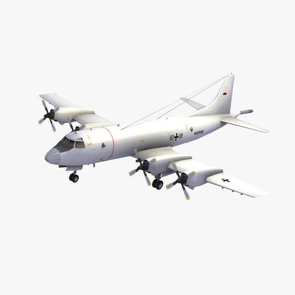 p3 orion aircraft deutsche 3d model