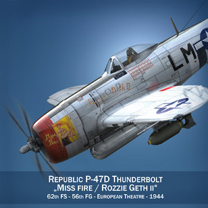 republic p-47 thunderbolt - 3d c4d
