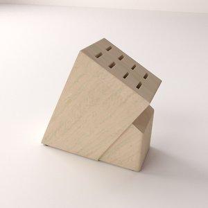 knife block 3d model