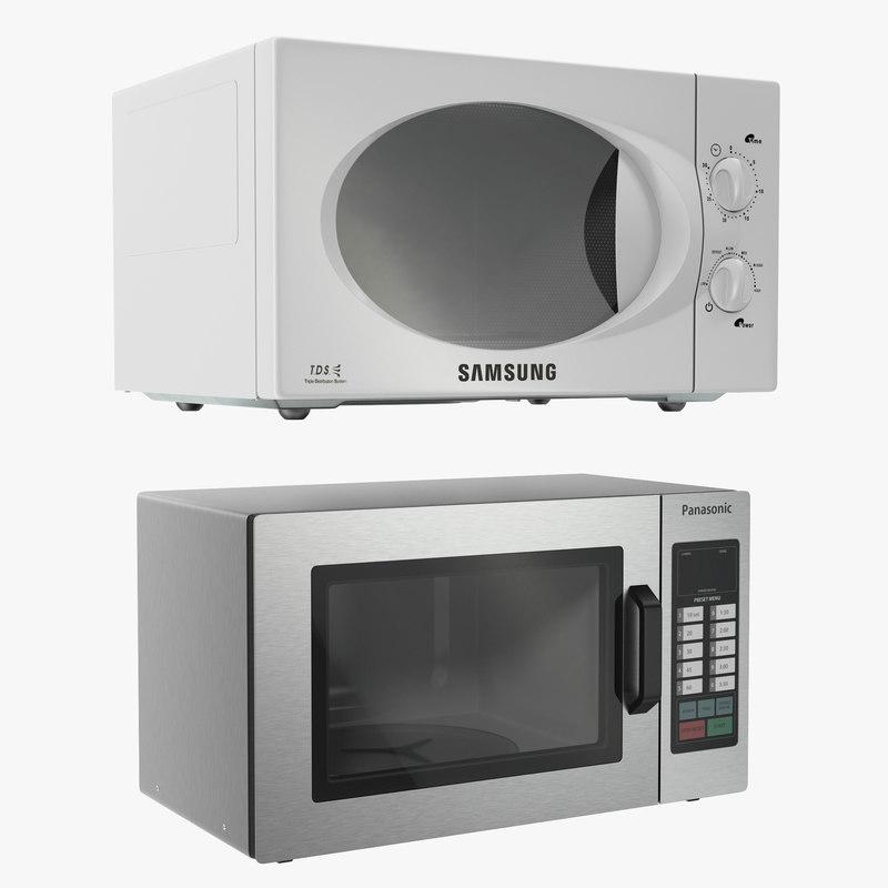 3d model microwave ovens modeled samsung