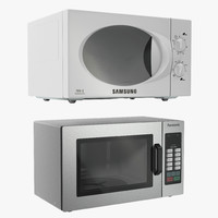 3d model microwave ovens modeled samsung