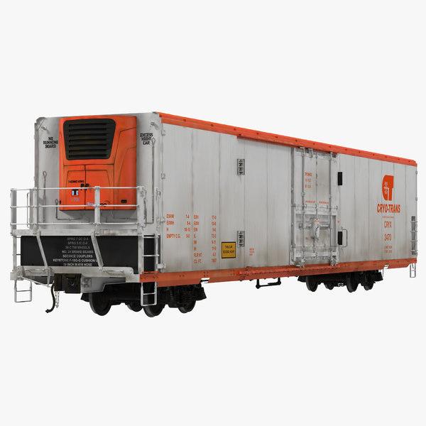 3d railroad refrigerator car cryotrans model