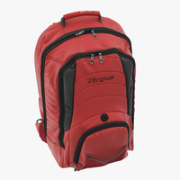 3d max backpack red modeled