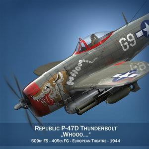 republic p-47 thunderbolt - c4d