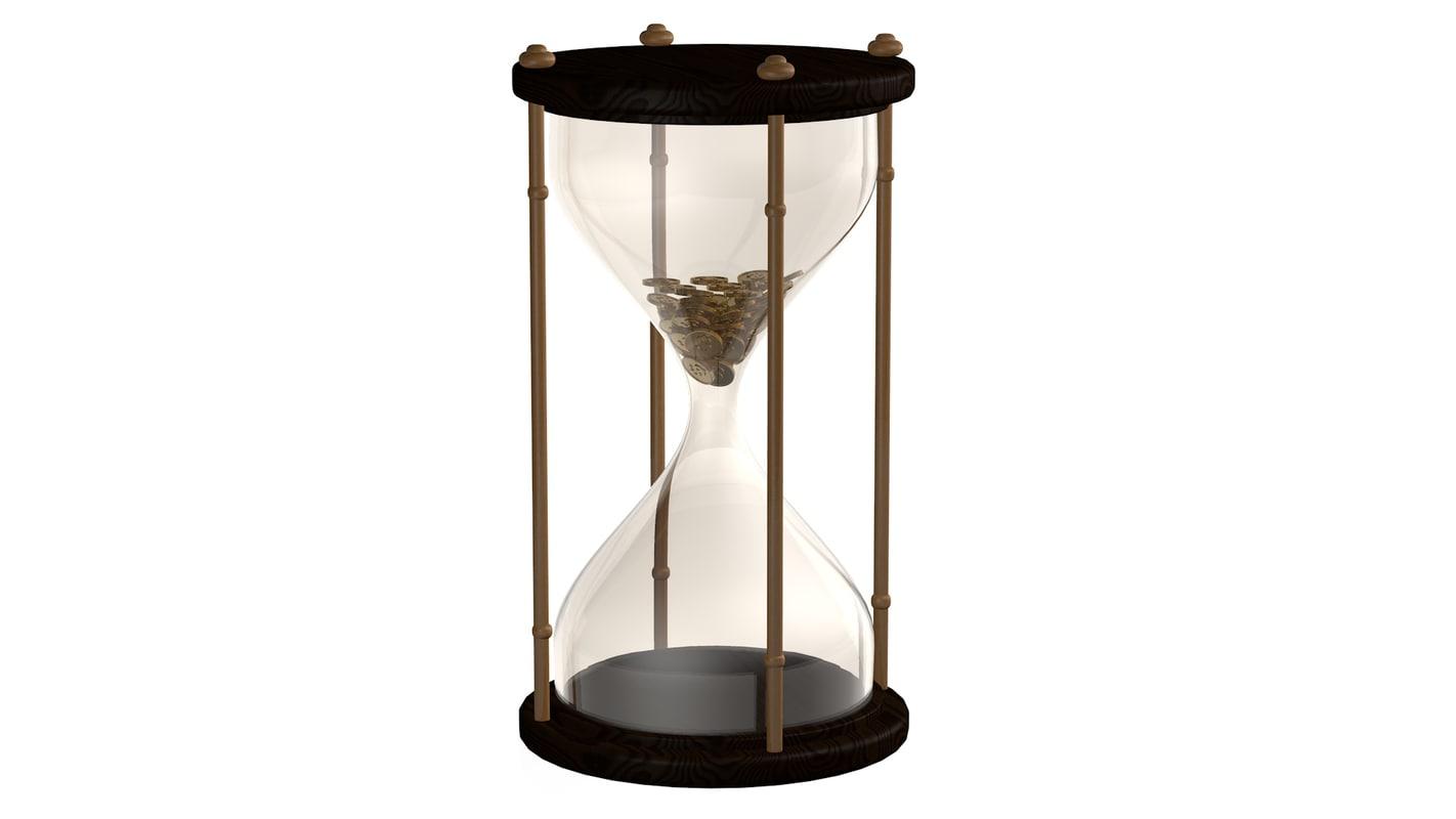 3d hourglass sand clock