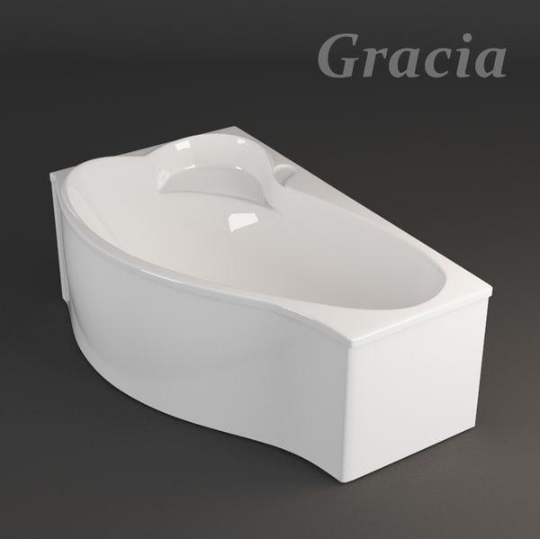 bath gracia 3d model