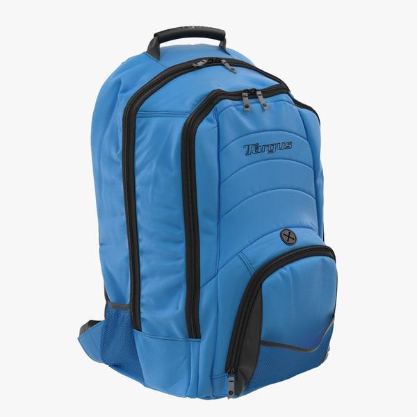 backpack blue modeled 3d max