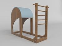 3d ladder barrel pilates model