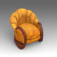 3d model of leather armchair