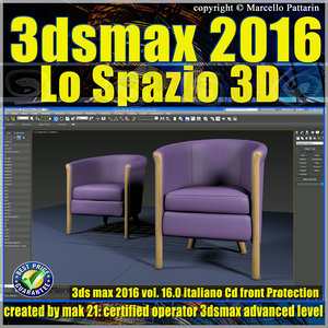 016 3ds max 2016 Lo Spazio 3D volume 16.0 Italiano cd front